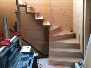 Floating oak stair build05